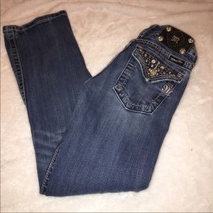 Miss Me Boot Cut Rhinestone Bling Jeans Size 26